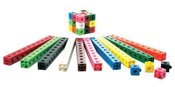 Cuburi colorate asamblabile 100 buc. 4