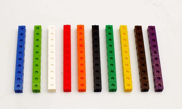 Cuburi colorate asamblabile 100 buc. 11