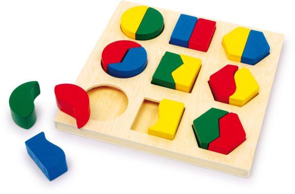 Puzzle, cutie identificarea formelor 1