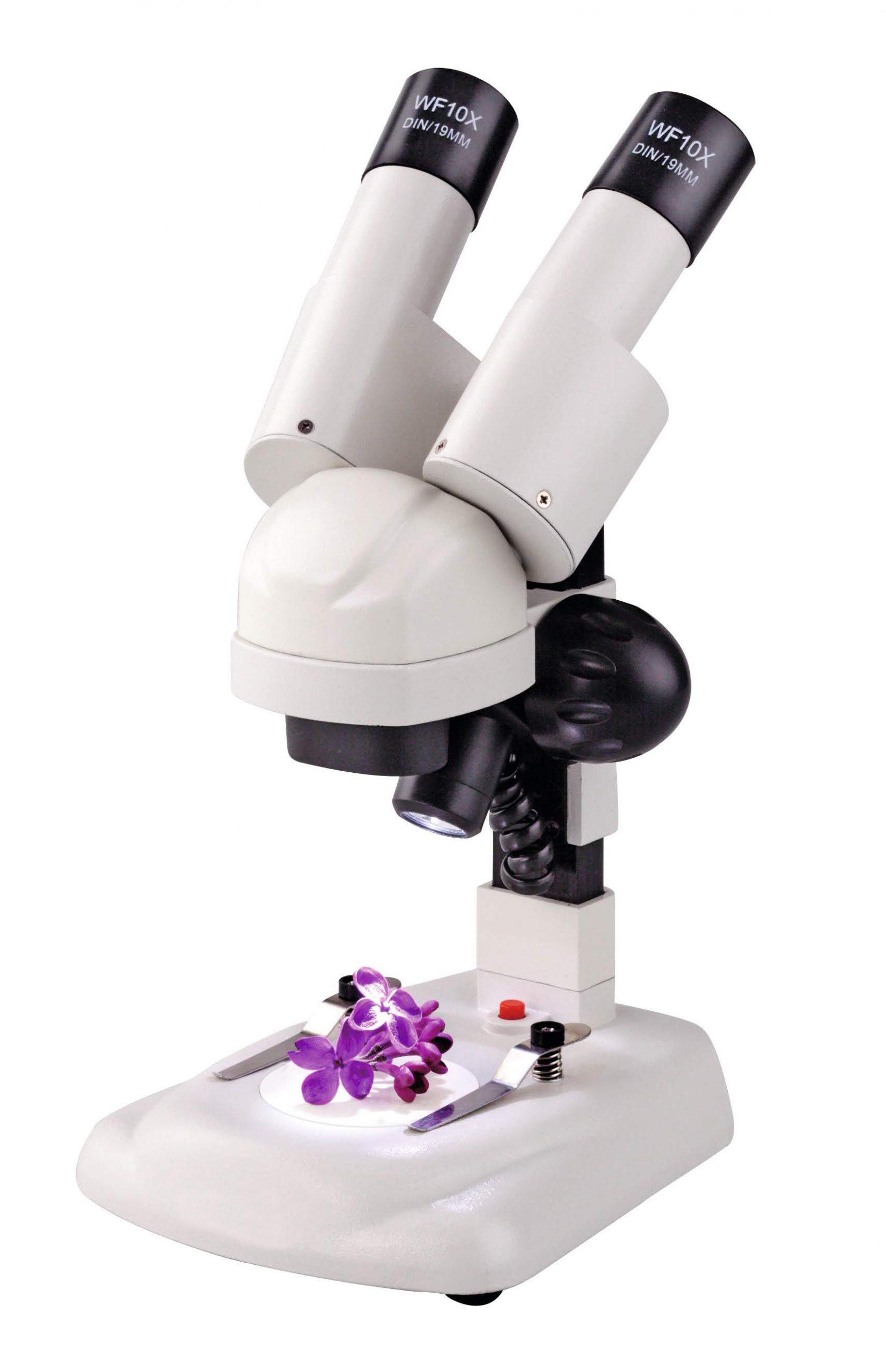 Microscop optic Stereo pentru elevi • MaterialeDidactice.ro