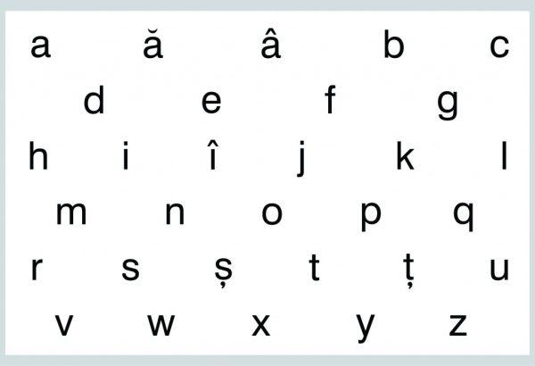 Literele - mici, de tipar 1