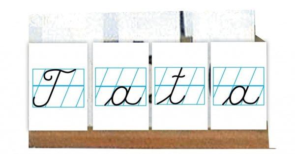 Litere de mana - set de cartonase etalabile 1