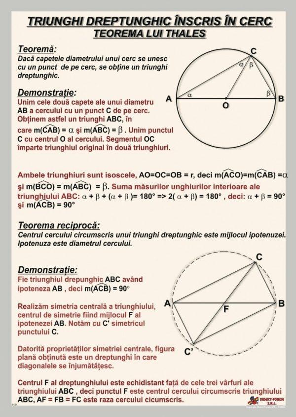 Triunghi dreptunghic inscris in cerc - Teorema lui Thales - fara sipci 1