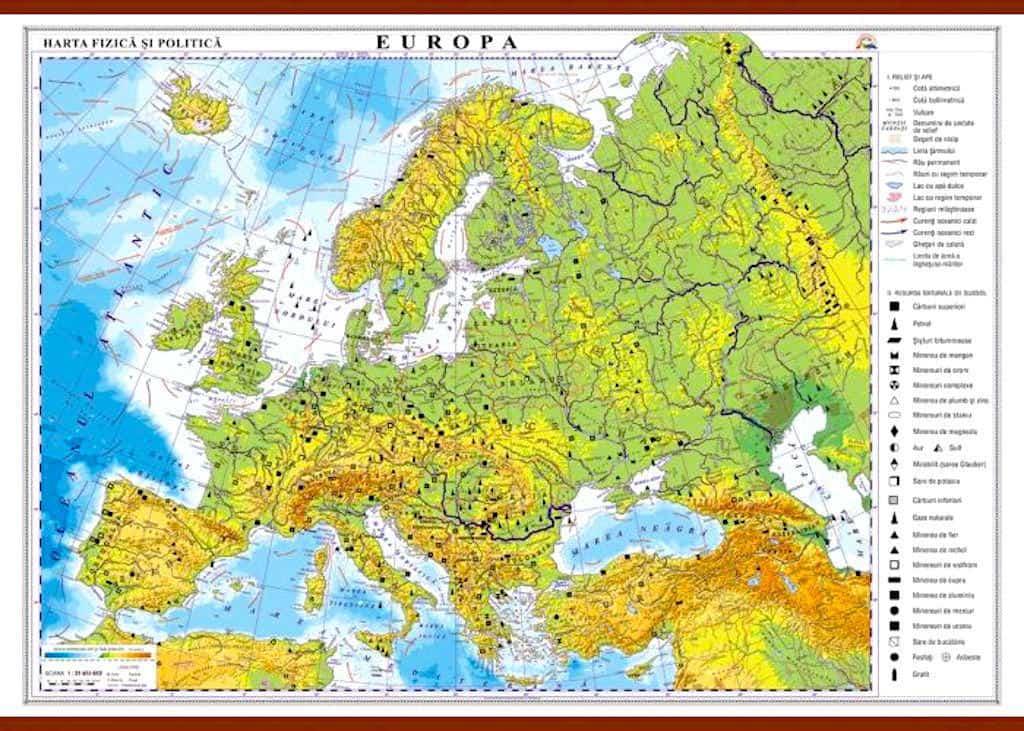 Europa Harta Fizica Si Politica Materialedidactice Ro