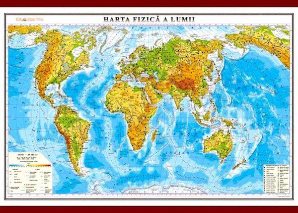 Harta fizica a lumii 1