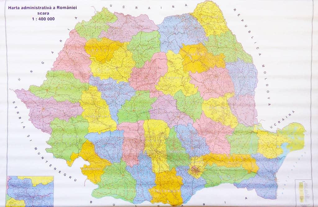 Harta Administrativa A Romaniei Materialedidactice Ro