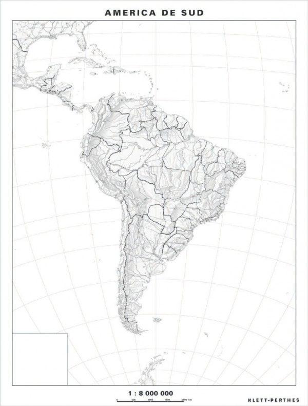 Harta de lucru - America de Sud – Fara §ipci 1
