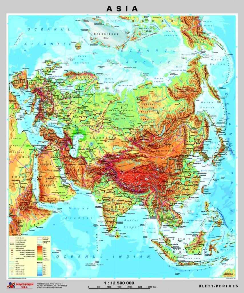 Asia Harta Fizica Pe Verso Harta Politica A Asiei