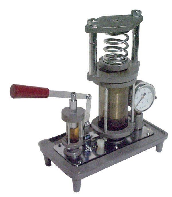 Model de presa hidraulica, cu manometru 1