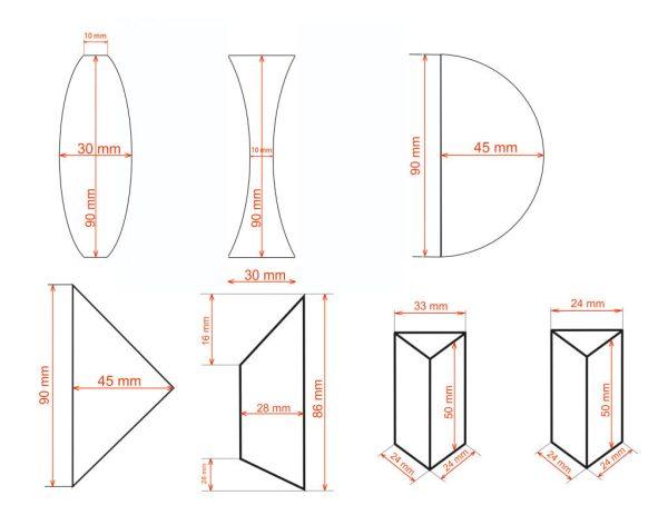 Set corpuri optice 2