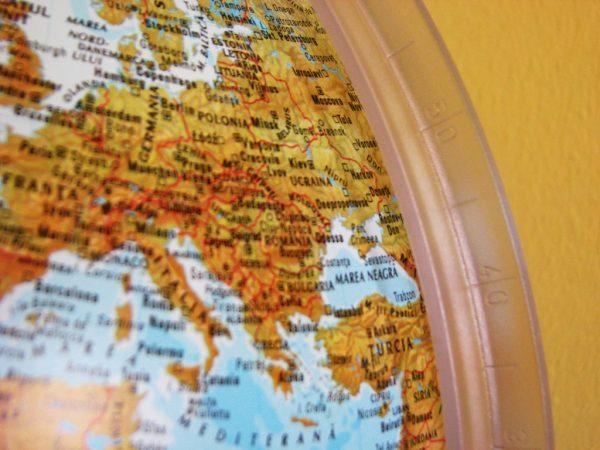 Glob geografic pamantesc iluminat, 30 cm 13