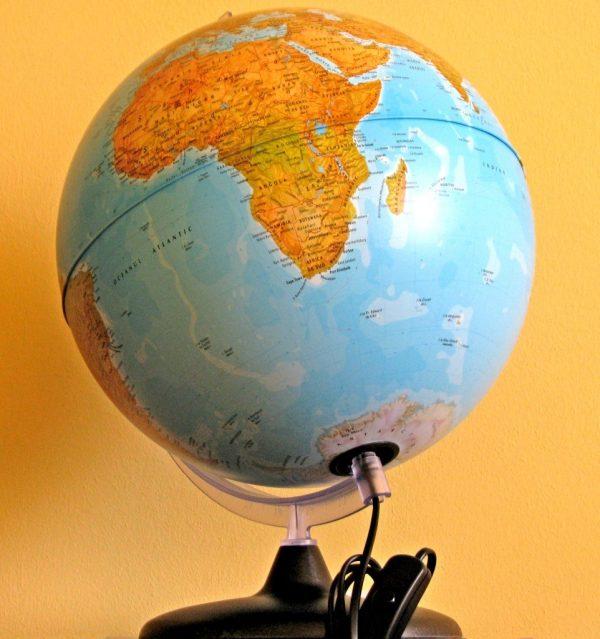 Glob geografic pamantesc iluminat, 30 cm 7