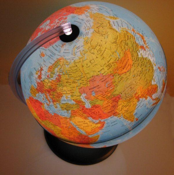 Glob geografic pamantesc iluminat, 30 cm 8