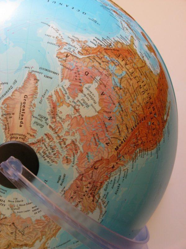Glob geografic pamantesc iluminat, 30 cm 9