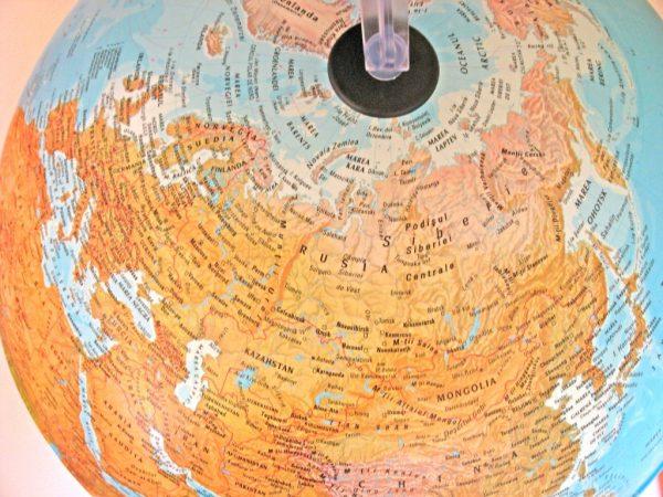 Glob geografic pamantesc iluminat, 30 cm 10