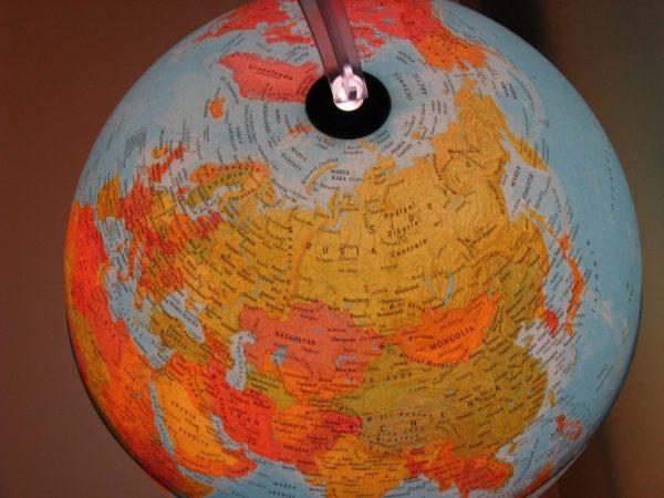 Glob geografic pamantesc iluminat, 30 cm 11