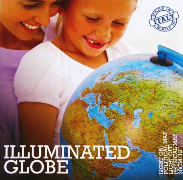 Glob geografic pamantesc iluminat 1