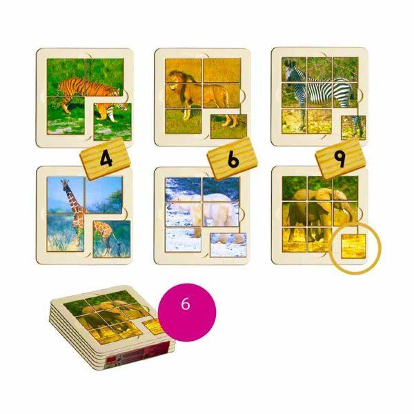 Animale salbatice - puzzle 1