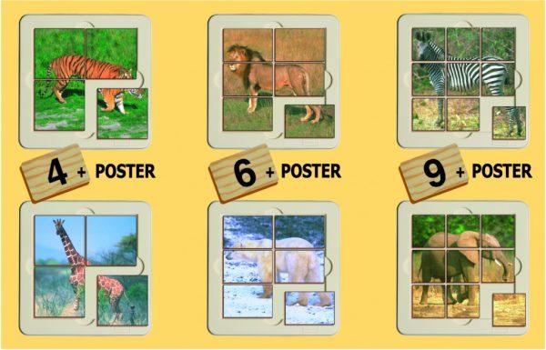 Animale salbatice - puzzle 2