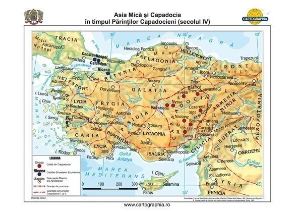 Asia Mica Si Capadocia In Timpul Parintilor Capadocieni Secolul