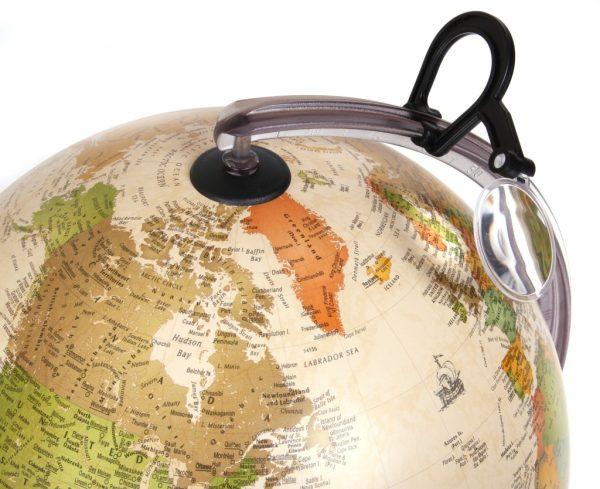 Glob geografic pamantesc iluminat Marco Polo 3