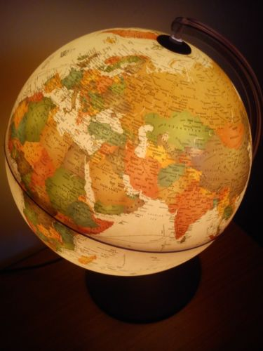 Glob geografic pamantesc iluminat Marco Polo 2