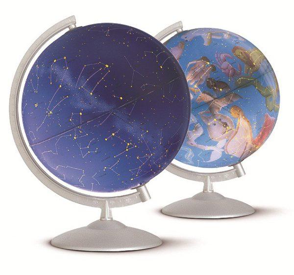 Glob geografic pamantesc iluminat Stelare Perla 2