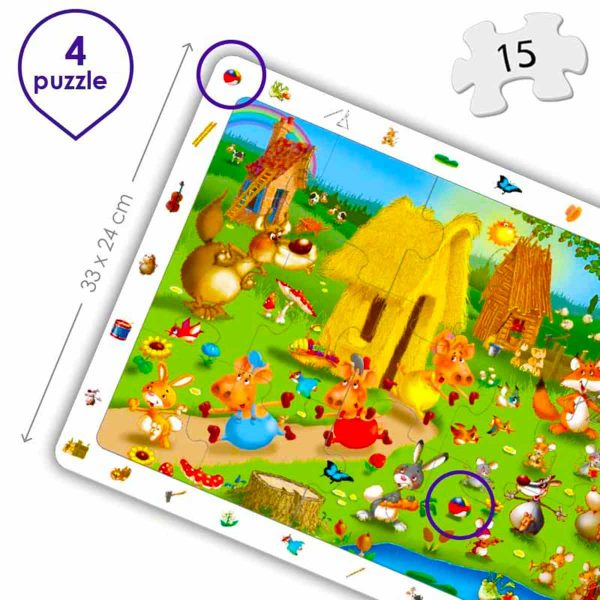 Puzzle 4 in 1 - Povesti Clasice 1