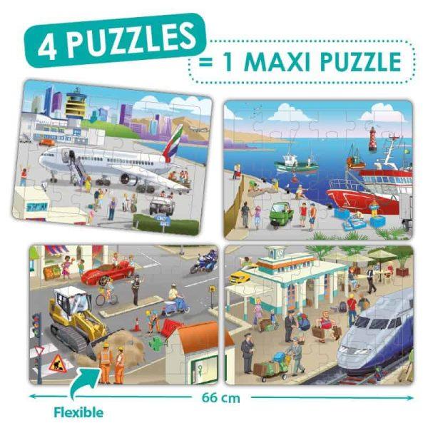 Puzzle 4 in 1 - Orasul meu 1