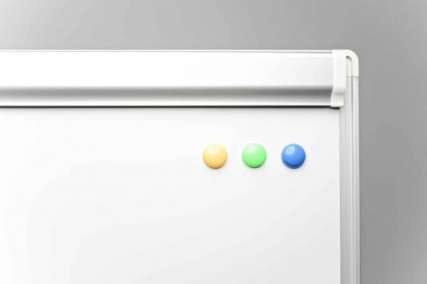 Flipchart whiteboard magnetic 5