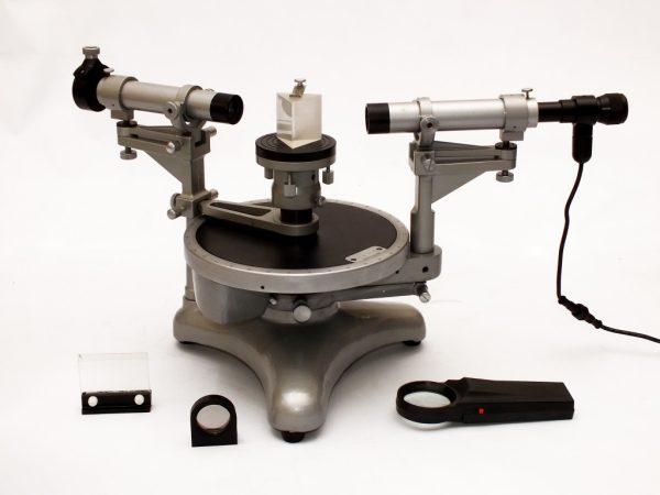 Spectrometru - Goniometru cu dublu vernier 4