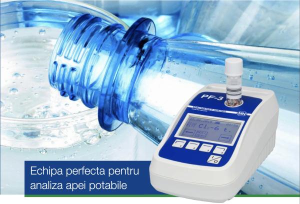 Fotometru compact pentru Apa Potabila cu set reactivi Clor si pH 1