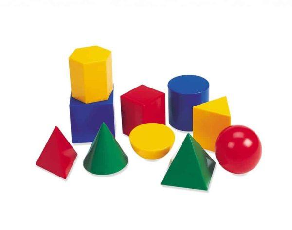 Corpuri geometrice din plastic - 10 piese 2
