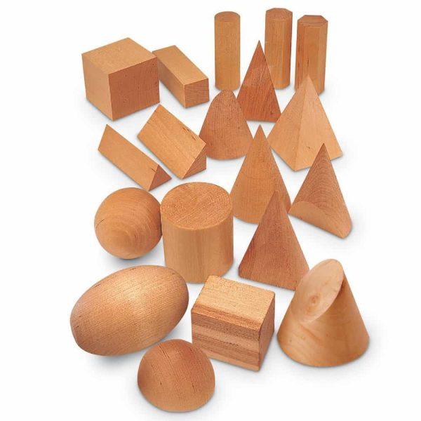 Forme geometrice din lemn (set 19) 1