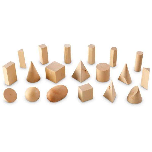 Forme geometrice din lemn (set 19) 2
