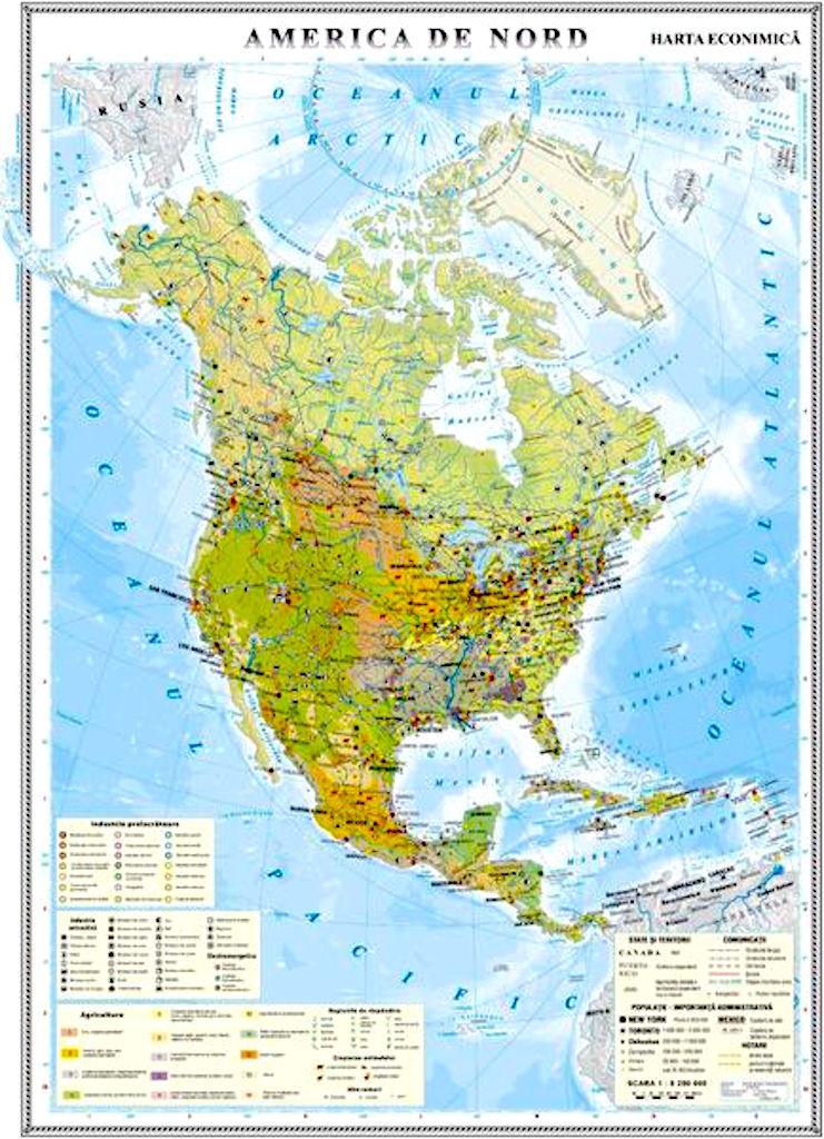 America De Nord Harta Economica Materialedidactice Ro