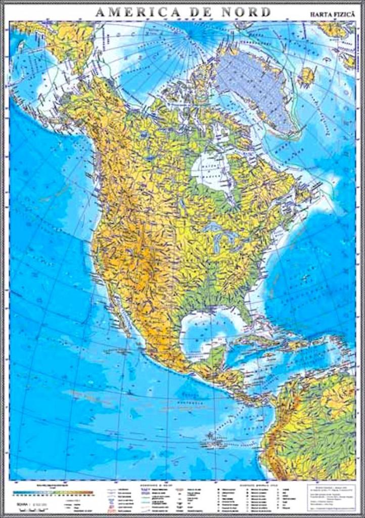 America De Nord Harta Fizica Materialedidactice Ro