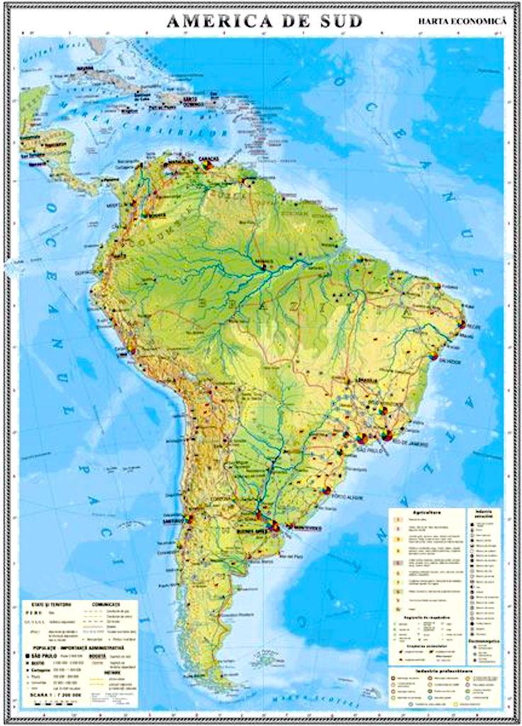 America De Sud Harta Economica Materialedidactice Ro