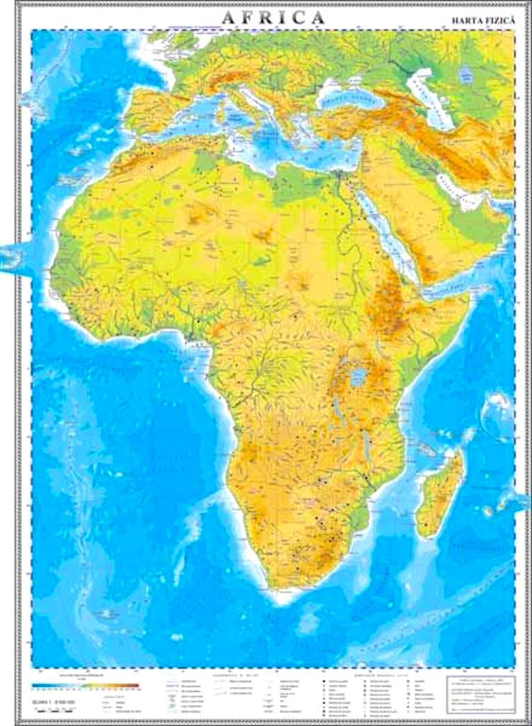 Africa Harta Fizica Materialedidactice Ro