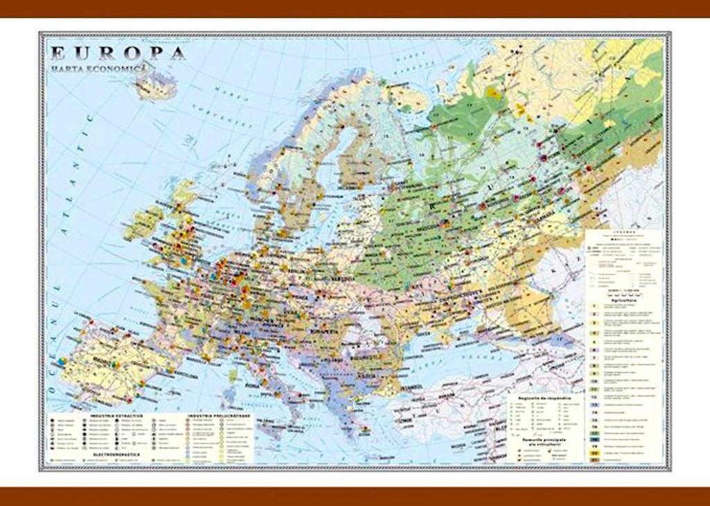 Europa Harta Economica Materialedidactice Ro