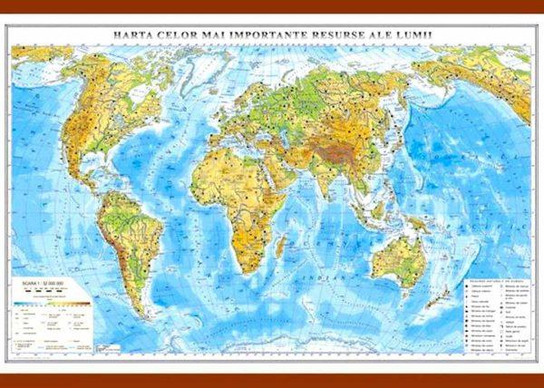 Harta celor mai importante resurse ale lumii 1