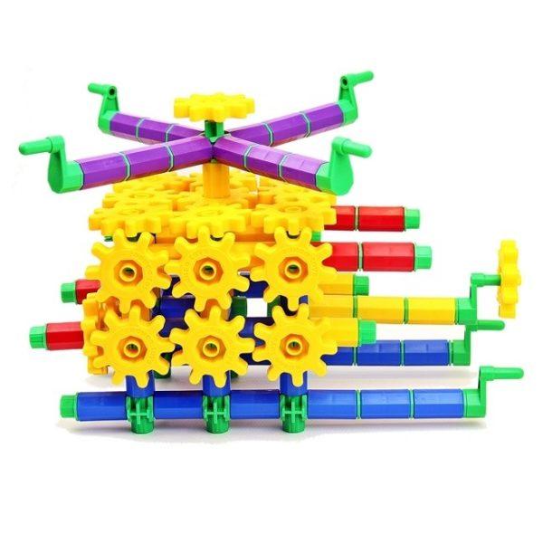Set de construit din roti dintate - 430 piese 4