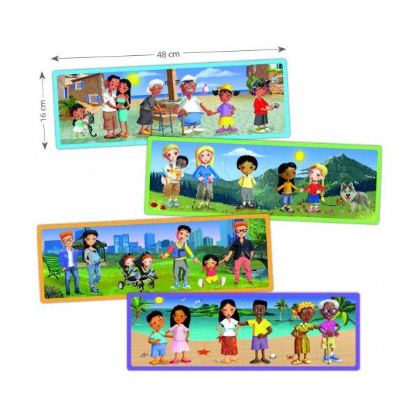 Set puzzle familiile lumii 2