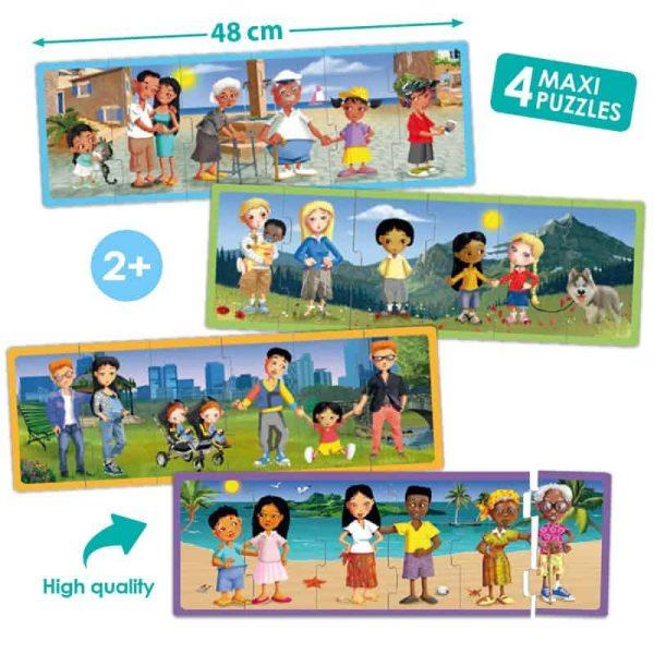 Set puzzle familiile lumii 1