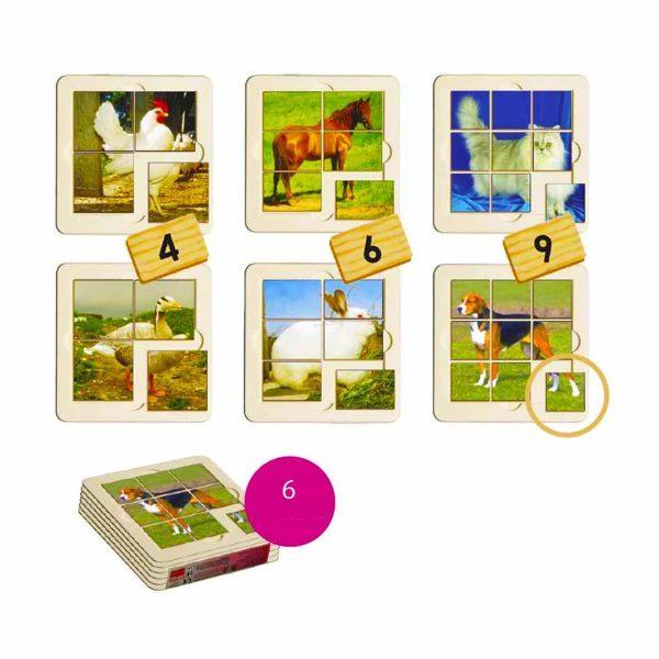 Animale de ferma - puzzle 1