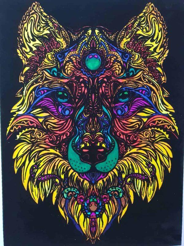 Plansa de colorat catifea - Lupul 3