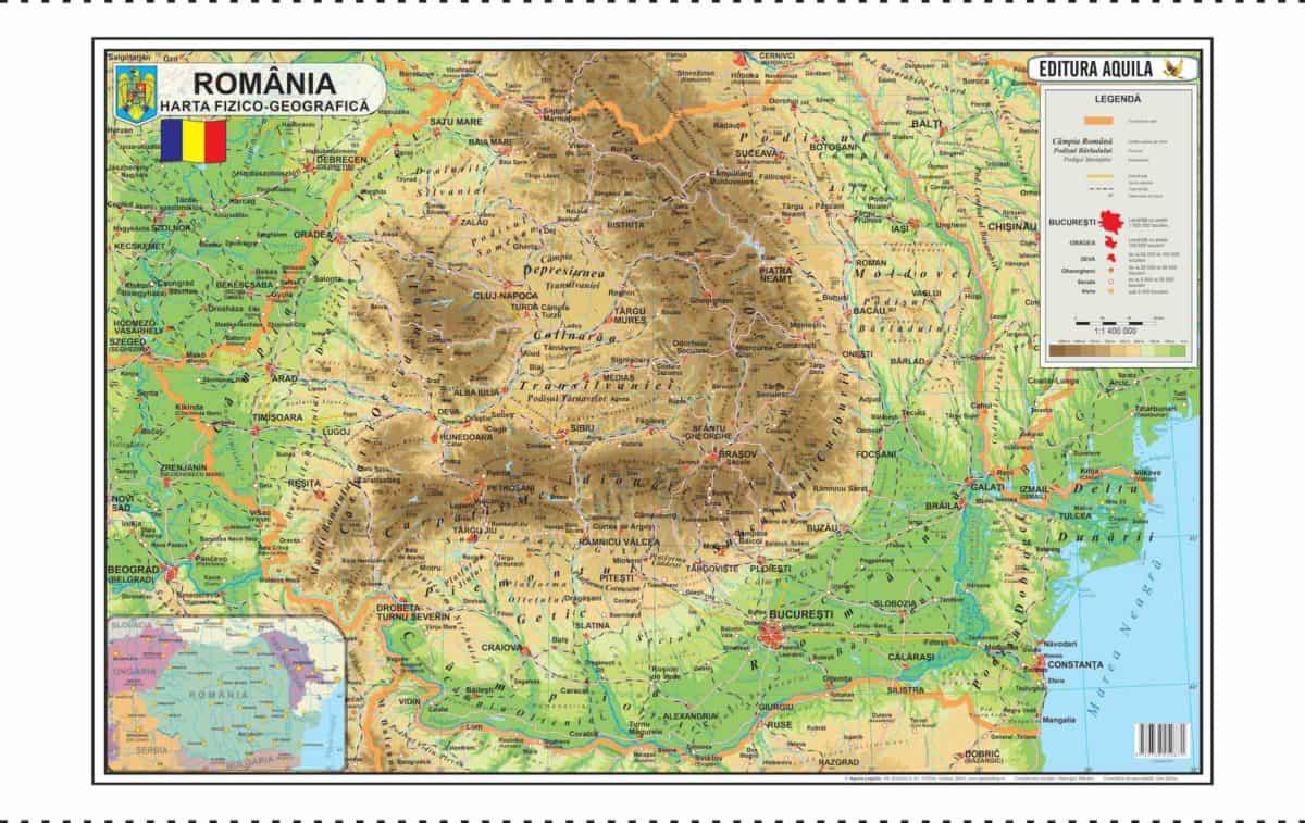 Harta Fizica Si Administrativa A Romaniei Materialedidactice Ro