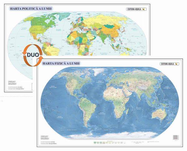 Harta fizica si administrativa a Lumii 1