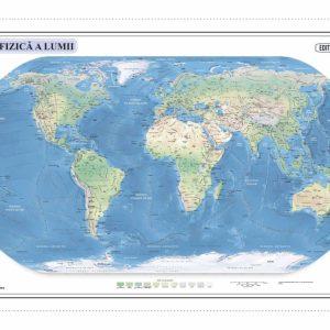 Harta fizica a lumii 50x70-Definitiva cod negru corectata 2016