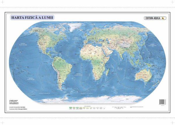 Harta fizica si administrativa a Lumii 2